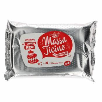 Pain de pâte à sucre Massa Ticino Rouge 1Kg