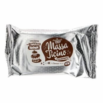 Pain de pâte à sucre Massa Ticino Marron 250 grs