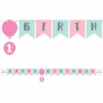 Guirlande Happy Birthday Bunny party