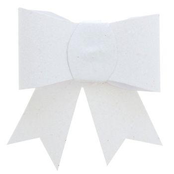 2 Pinces noeuds pailletés blanc