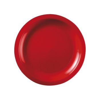 10 Assiettes ronde dessert rouge
