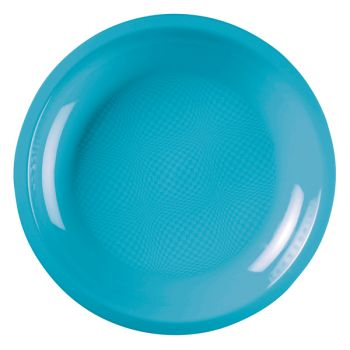 10 Assiettes ronde turquoise