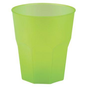 20 Verres cocktail plastique givré vert anis