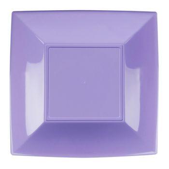 8 Assiettes carrée lilas