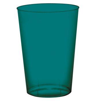 10 Gobelet PS vert émeraude 20cl