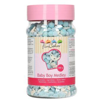 Mix confettis en sucre baby boy Funcakes 180gr