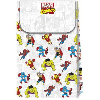 6 Pochettes cadeaux Avengers pop comics
