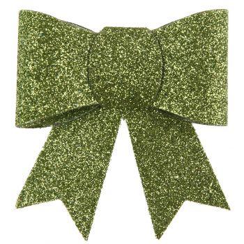 2 Pinces noeuds pailletés vert