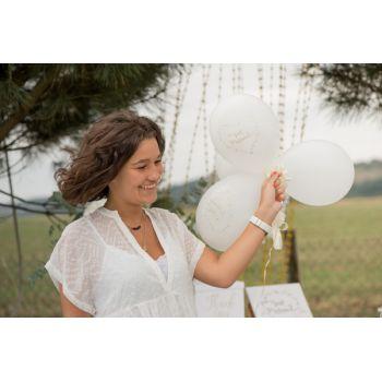 10 Ballons Just married métallisés