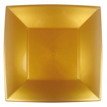 8 Mega Assiettes carrée or