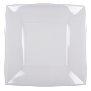 8 Mega Assiettes carrée transparente