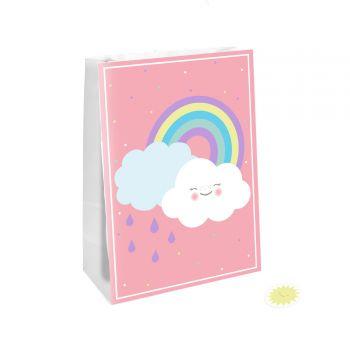4 Sachets de fête nuage rainbow