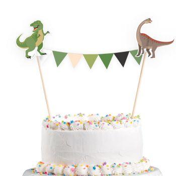 Fanions à gâteau Dinosaure party