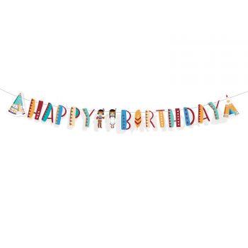 Banderole Happy Birthday indiens