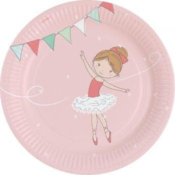 8 Assiettes petite danseuse
