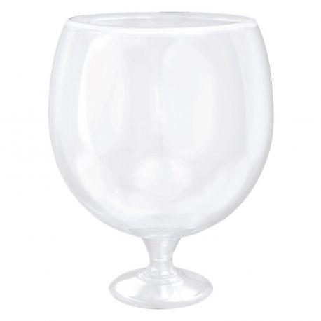 Verre globe géant sur pied transparent idéal pour vos candy bar ou également pour les punchMatière plastiqueContenance 3 Litres