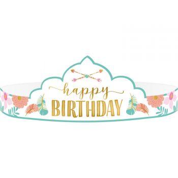 8 couronnes Boho birthday