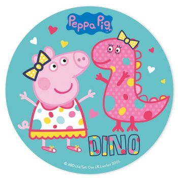 Disque comestible 20cm Peppa Pig Dino