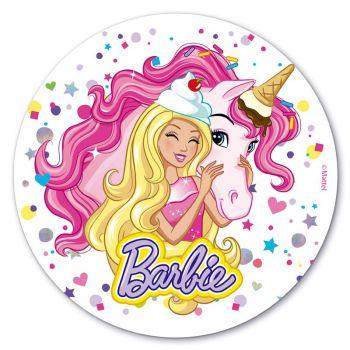 Disque azyme Barbie Ice cream 20 cm