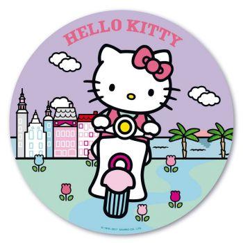 Photo comestible Hello Kitty palmier 20 cm