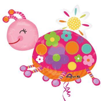Ballon coccinelle rose
