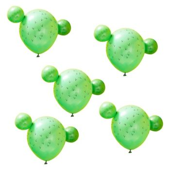 5 Ballons cactus