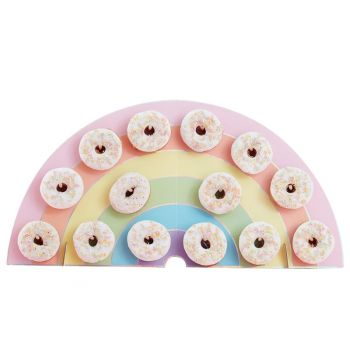 Présentoir à donuts Arc en ciel pastel