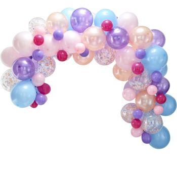 Kit arche de 80 ballons pastel