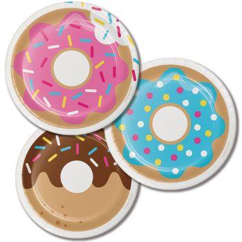 8 Assiettes dessert Croc Donuts