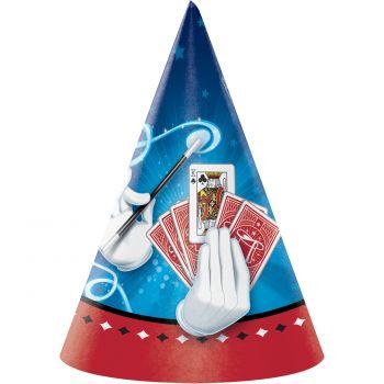 8 Chapeaux de fête Magic party