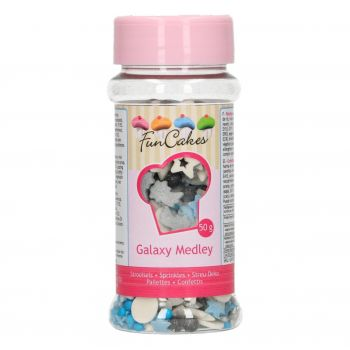 Confettis en sucre Funcakes Galaxy 50gr