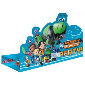 8 Invitation Rusty Rivets