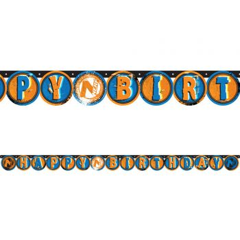 Banderole Happy Birthday Nerf