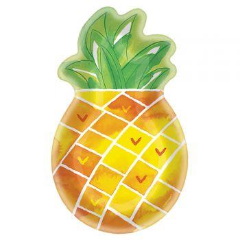 8 grandes assiettes ananas