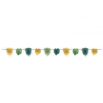 Guirlande feuilles or et vertes