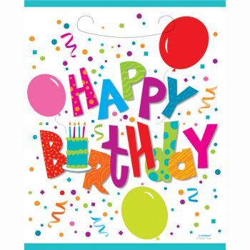 8 Sachets de fête Birthday confettis
