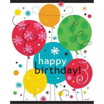 8 Sachets de fête Birthday breezy ballons