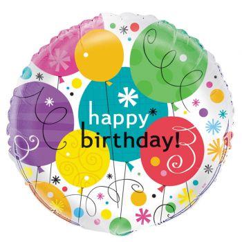 Ballon helium Birthday breezy ballons