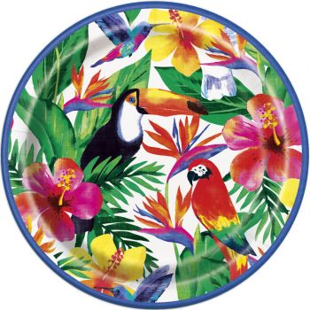 8 Assiettes Tropical