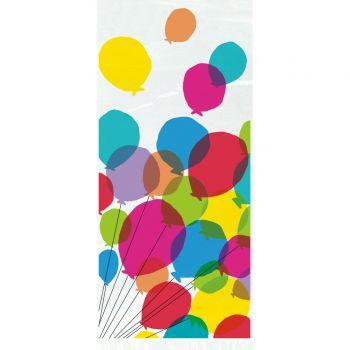 20 Sachets à confiseries Rainbow Birthday ballons