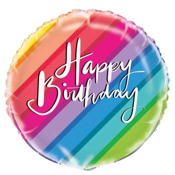 Ballon hélium rainbow Birthday ballons