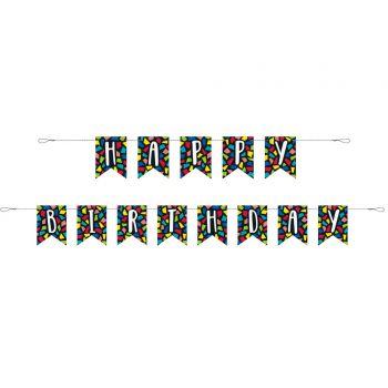 Banderoles Happy Birthday mosaic