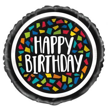 Ballon hélium Birthday mosaic