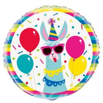 Ballon hélium Lama birthday