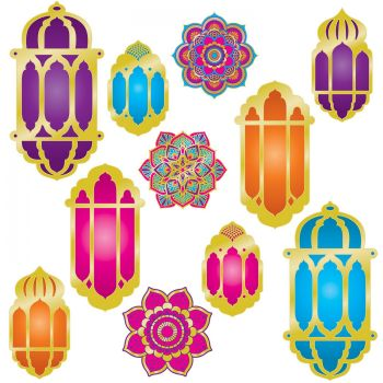 11 décors lanternes et mandala Mille et une nuit