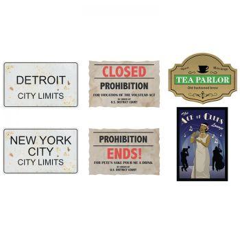 6 Pancartes assortis prohibition