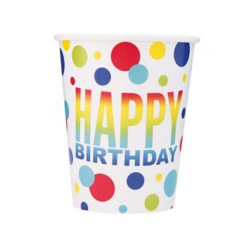 8 Gobelets Birthday spots