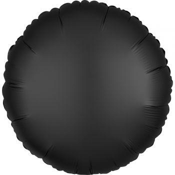 Ballon hélium satin luxe noir rond