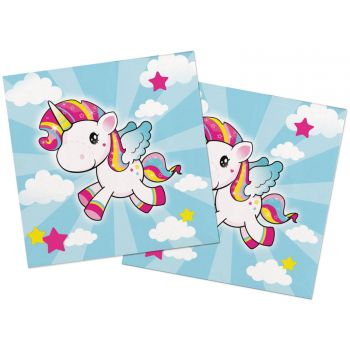 20 Serviettes Licorne pop