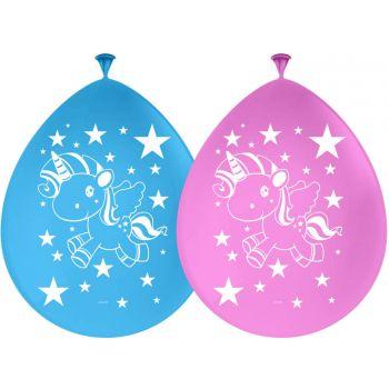 8 Ballons Licorne pop